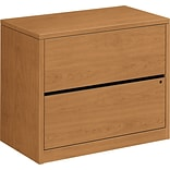 HON® 10500 Series Lateral File Cabinet, 2-Drawer, Harvest, 29 1/2H x 36W x 20D