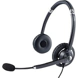 Dark Color Binaural over-The-Head Headset