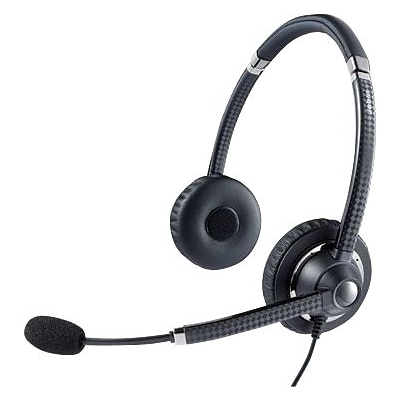 Jabra® UC™ Voice 750 Binaural Over-The-Head Headset, Dark Color