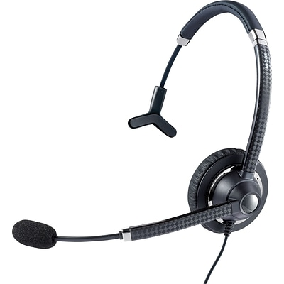 Jabra® UC™ Voice 750 Monaural Over-The-Head Headset, Dark Color