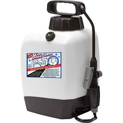 Bare Ground, Ice Melt, Battery Sprayer System with 1 Gallon Liquid Ice Melt Preloaded