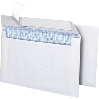 Simply Self Seal Security Tinted #6 Business Envelopes, 3 5/8 x 6 1/2, White, 50/Box (862999)