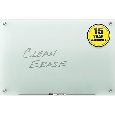 Quartet Infinity™ Glass Marker Board with Frosted Surface, Frameless, 4 x 3
