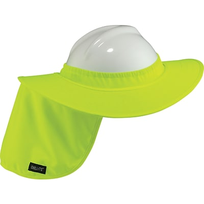 Ergodyne® Chill-Its® Absorptive Hard Hat Brim With Shade, Hi-Visibility Lime