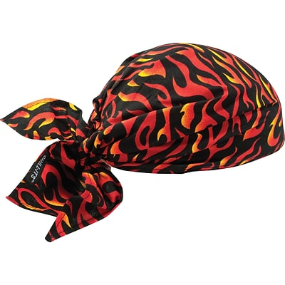 Ergodyne® Chill-Its® Evaporative Cooling Triangle Hat, Flames, 24/Pack