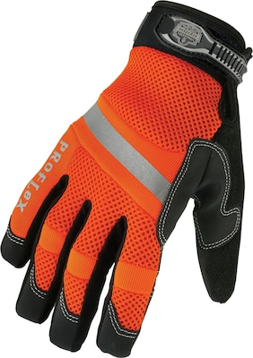 876WP HiVis Waterproof Gloves Org Md 1 Pair