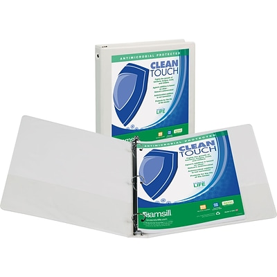 Samsill® Clean Touch 2 Capacity Antimicrobial Economy View Binder, White