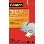 Scotch™ Thermal Laminating Pouches, Business Card Size, 100 Pouches (TP5851-100)