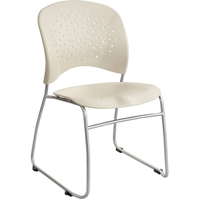 SAFCO® Reve™ Guest Chair Sled Base Round Back, Latte