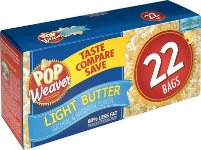 Pop Weaver Microwave Popcorn, Light Butter, Popcorn,