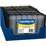 C-Line® Expanding Coupon File; 13-Pocket, Black/Gray