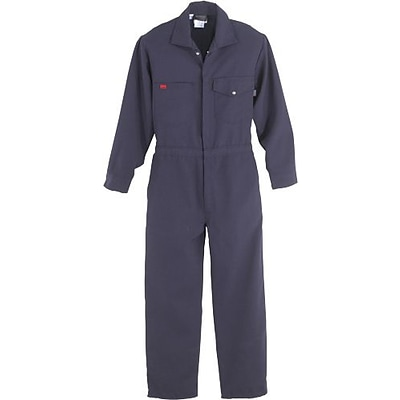 Workrite® Flame Resistant 4.5 oz Nomex IIIA Industrial Coverall, Navy, 40 Chest, Regular Inseam