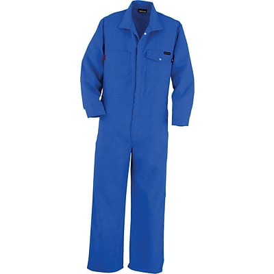 Workrite® Flame Resistant 4.5 oz Nomex IIIA Industrial Coverall, Royal Blue, 42 Chest, Short Inseam