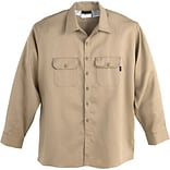 Workrite® Flame Resistant 7 oz. UltraSoft Long Sleeve Work Shirt, Khaki, Small, Long