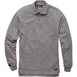 Workrite® Flame Resistant 6.7 oz Tecasafe Long Sleeve Polo, Heather Gray, Small