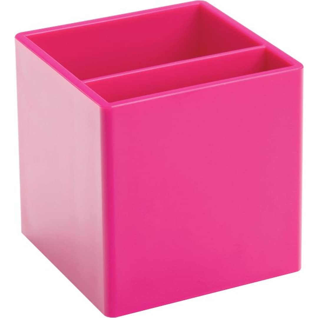 Poppin Pink Pen Cup | Quill.com
