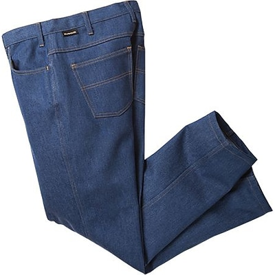 Workrite Flame Retardant Jean Cut Work Pants, Denim, 33 x Unhemmed