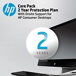 HP Care Pack 2-year Protection Plan with Onsite Support Service for HP Desktops
