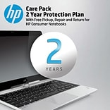 HP Care Pack 2-year Protection Plan with Free Pickup and Return for HP Notebooks