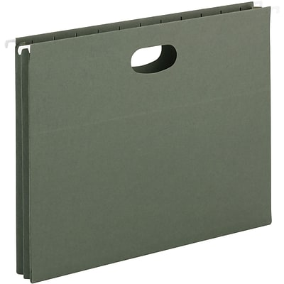 Smead® Hanging File Pocket, 1-3/4 Expansion, Letter Size, Standard Green, 25 per Box (64218)