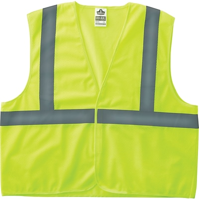 Ergodyne® GloWear® 8205HL Class 2 Hi-Visibility Super Economy Vest, Lime, Small/Medium