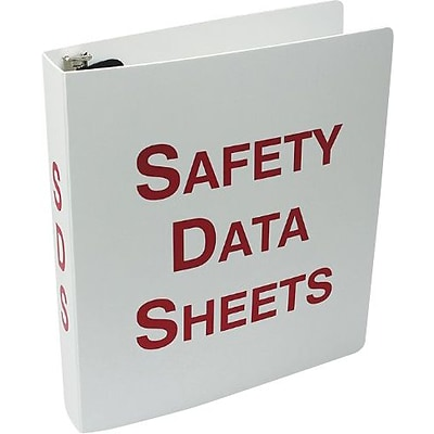 Accuform Signs® Safety Data Sheets Binder, 2.5, Red/White