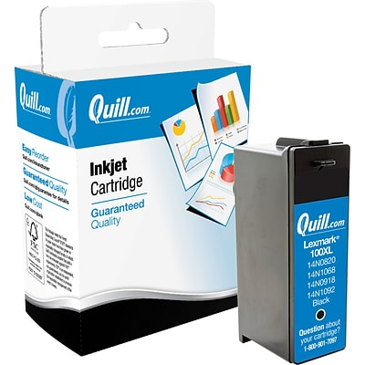 Quill Brand Remanufactured Lexmark™100XL High Yield Black Inkjet Cartridge (100% Satisfaction Guaranteed)