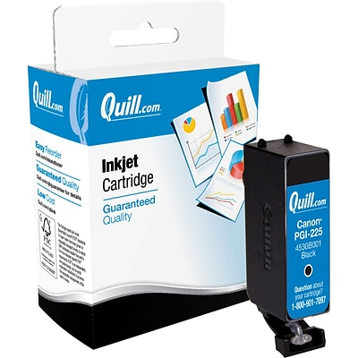 Quill Brand Ink Cartridge Comparable to Canon® PGI-225 Black (100% Satisfaction Guaranteed)