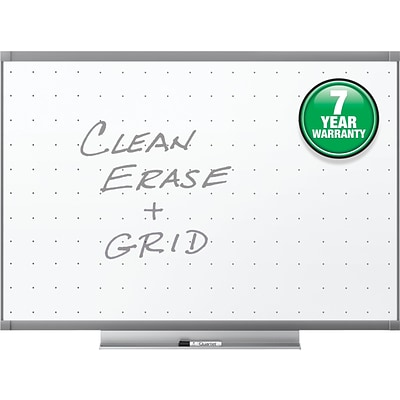 Quartet Prestige® 2 Total Erase®, 3 W x 2 H, Painted Steel Whiteboard with Graphite Finish Frame (TE543GP2)
