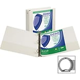 Samsill Clean Touch™ 3 Ring View Binder Protected by Antimicrobial Additive, 3 Inch Round Rings, Whi