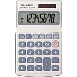 Sharp® EL-240SAB Extra-Large 8 Digit Display Basic Hand-Held Calculator, Gray