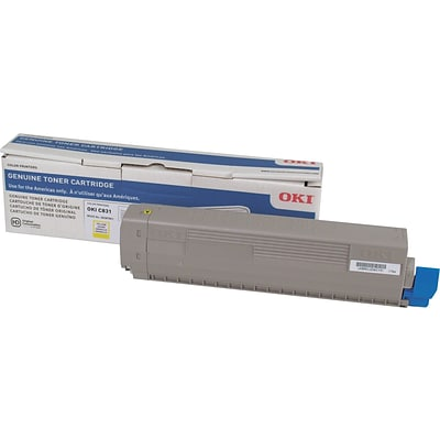 OKI 44844509 Yellow Toner Cartridge, Standard Yield