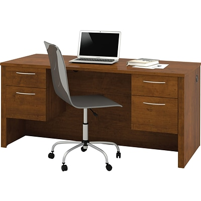 Bestar Embassy Executive Double-Pedestal Desk, Tuscany Brown