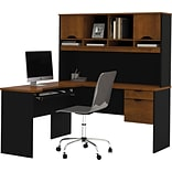 Bestar® Tuscany Brown L-Shape Workstation