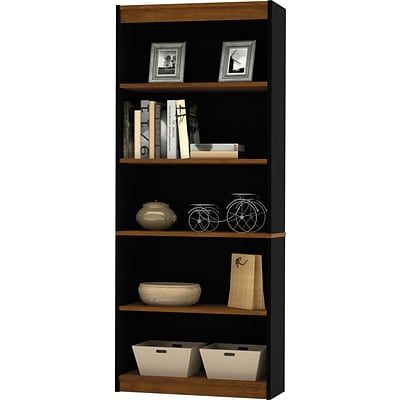 Bestar® Innova Office Collection in Tuscany Brown Finish, Bookcase