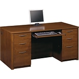 Double Pedestal Exec Desk, Tuscany Brown