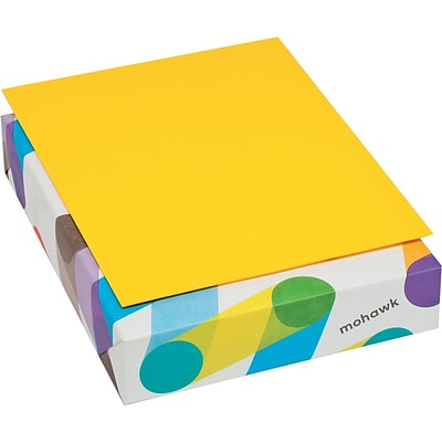 Mohawk BriteHue Multipurpose Colored Paper, 8 1/2 x 11, Sun Yellow, 500 Sheets/Ream