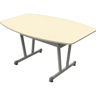 Trento Line Conference Table, Oatmeal, Boat Shape, 29-1/2Hx 59Wx39-1/2D