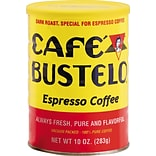 Cafe Bustelo® Espresso Ground Coffee, Dark Roast, 10 oz. Canister (BUS00050)
