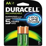 Rechargeable NiMH Batteries with Duralock Power Preserve Technology, AA, 2/Pk