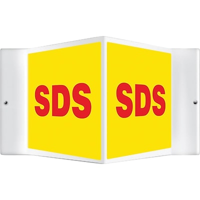 Accuform Signs® 3D Projection™ Sign, Red/Yellow, 8 x 12 Panels
