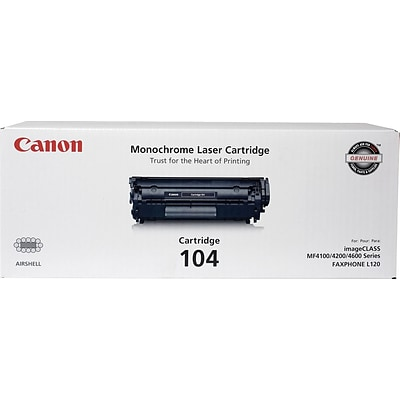 Canon 104 Black Toner Cartridge, Standard (0263B001)
