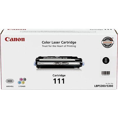 Canon® 111 (1660B001BA) Black Laser Toner Cartridge