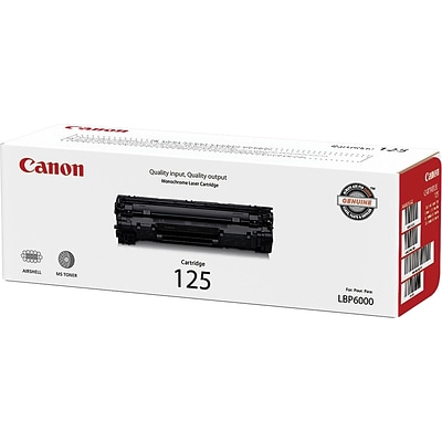 Canon 125 Black Toner Cartridge, (3484B001)