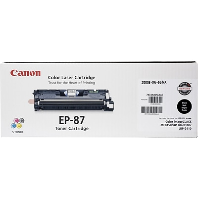 Canon EP-87 Black Toner Cartridge, Standard Yield (7433A005AA)