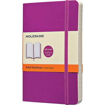 Moleskine Classic Colored Notebook, Pocket, Ruled, Orchid Purple, Soft Cover, 3-1/2 x 5-1/2
