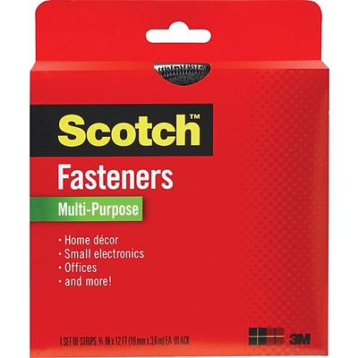 Scotch® Multi-Purpose Fastener, Black, 3/4 x 12