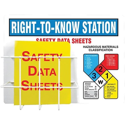 Accuform Signs® Right-to-Know Station, 18 x 24