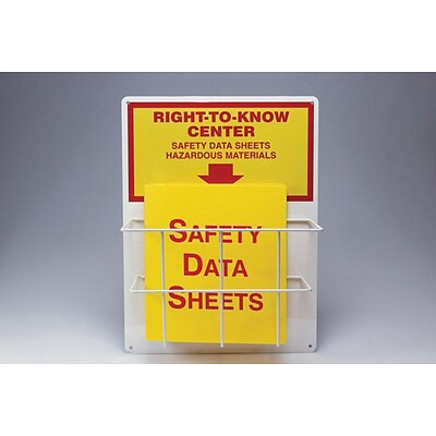 Accuform Signs® Right-to-Know Center, Single Basket, 20 x 15