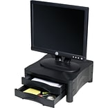 Adjustable Monitor Stand W/2 Storage Drawers